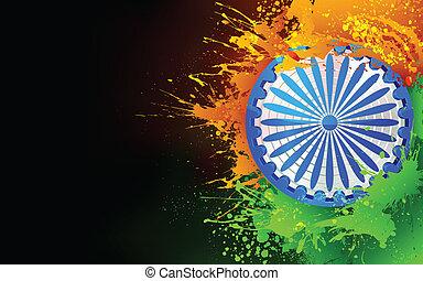 india, tricolore, fondo