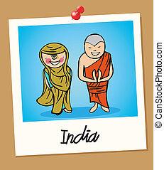 india, viaggiare, polaroid, persone