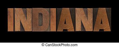 indiana, vecchio, legno, tipo