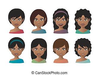 indiano, giovani donne