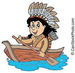 indiano legno, barca