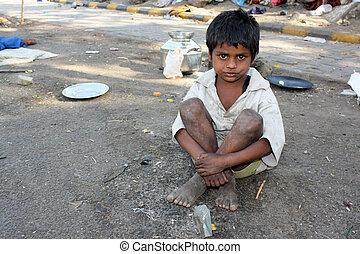 indiano, streetside, capretto