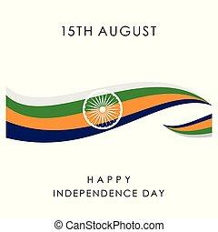 indiano, vettore, disegno, giorno indipendenza, scheda