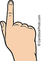 indicare mano