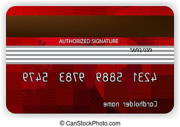 indietro, eps, credito, vettore, 8, vista., cartelle, rosso