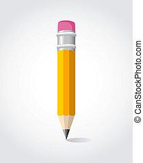 indietro, matita, scuola, giallo