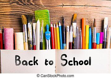 indietro, scuola, composizione