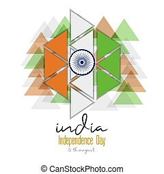 indipendenza, disegno, giorno, grafico, india