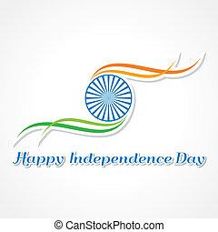 indipendenza, felice, giorno, bandiera
