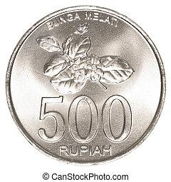 indonesiano, rupiah, 500, moneta