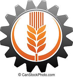 industria, agricoltura, icona