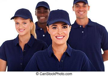 industria, gruppo, personale, servizio