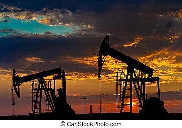 industria, olio, equipment., pumps.