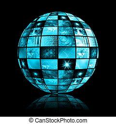 industria, telecomunicazioni globali, rete