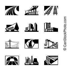 industriale, differente, costruzione