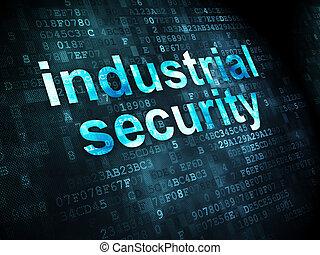 industriale, intimità, fondo, digitale, sicurezza, concept: