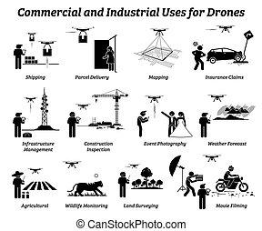 industriale, work., uso, commerciale, fuco, domande