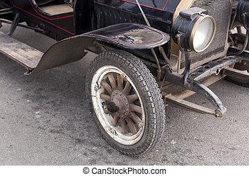industry., film, classico, vecchio, retro, automobile, usato