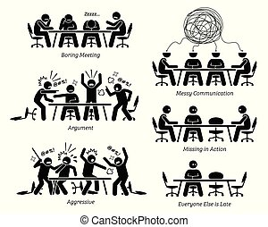 inefficiente, discussion., detenere, inefficace, riunione, funzionari