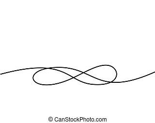 infinità, disegno, simbolo., continuo, linea, icona