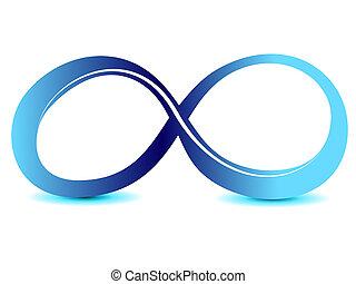 infinità, simbolo, illimitato, segno, vettore, icona