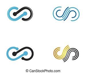 infinità, simbolo, vettore, icona