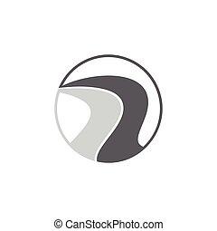 infinità, strada, strada, logotipo, vettore, disegno