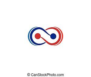 infinità, vettore, simbolo, icona