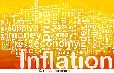 inflazione, concetto, fondo