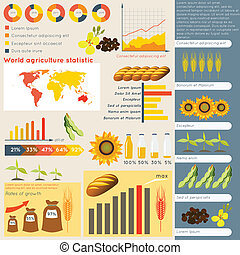 infographic, agricoltura, elementi