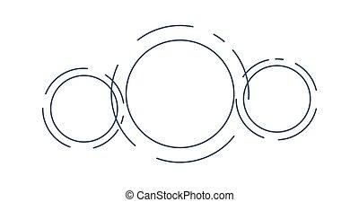 infographic, astratto, isolato, illustrazione, vettore, sagoma, circles., futuristico