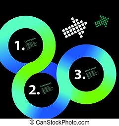 infographic, cerchio, vettore, sagoma