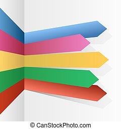 infographic, colorare, frecce, zebrato, vettore, template.