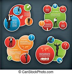 infographic, corporativo, sagoma, affari