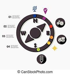 infographic, navigazione