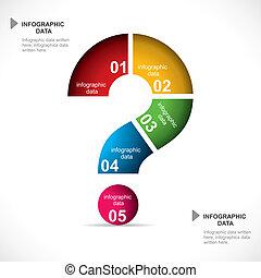 infographic, punto interrogativo
