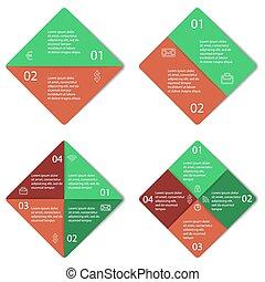 infographic, squadra triangolo