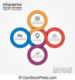 infographic, template., relazione