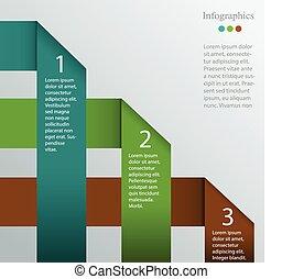 infographic, vettore, sagoma
