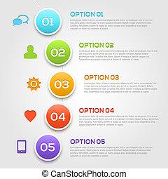infographics, moderno, template., opzioni