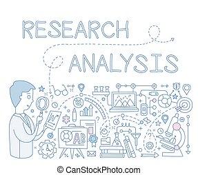 infographics., vettore, analisi, illustrazione, ricerca