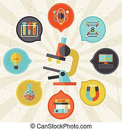 informazioni, appartamento, concetto, scienza, disegno, style.
