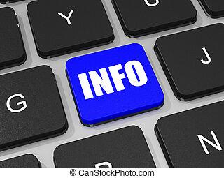 informazioni, chiave computer portatile, computer., tastiera