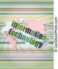informazioni, concetto, illustrazione, vettore, fondo, tecnologia digitale