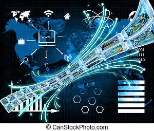 informazioni, continuo, flusso