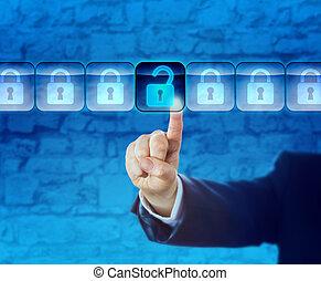 informazioni, dati, pacchetto, flusso, sbloccando