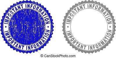 informazioni, francobolli, importante, grunge, textured