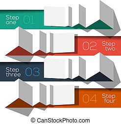 informazioni, grafico, moderno, disegno, sagoma, disegnato, origami