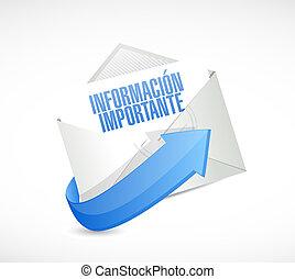 informazioni, importante, segno, posta, spagnolo