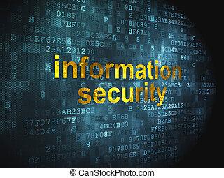 informazioni, protezione, fondo, digitale, sicurezza, concept: